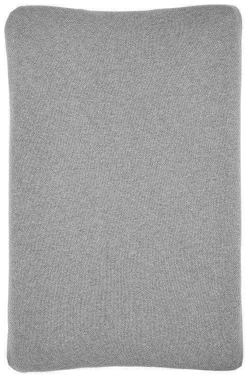 Aankleedkussenhoes | gebreid | grijs melange