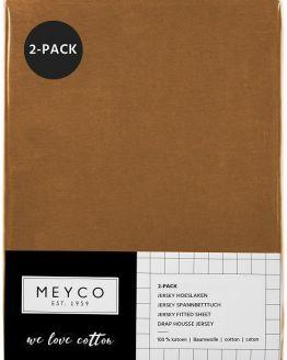 Hoeslaken | camel | 2 pack | ledikant