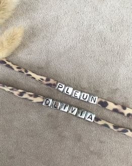 Cotton Design | Naam armbandje | zwart