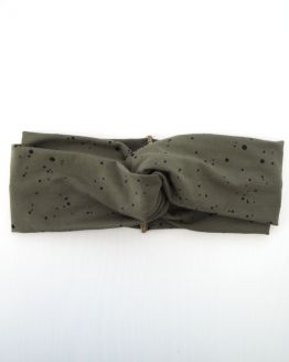Huusje kids | haarband volwassen | army green dot