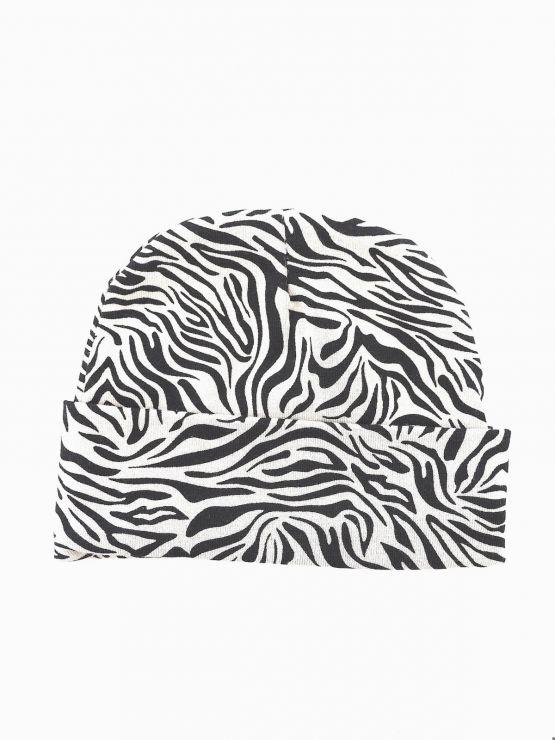 Huusje kids   newborn mutsje   zebra