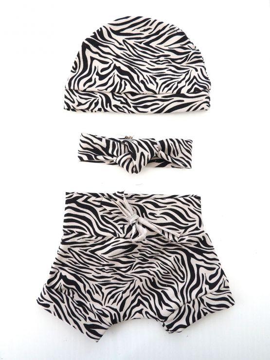 Huusje kids | poppenkleertjes set van 3 | zebra