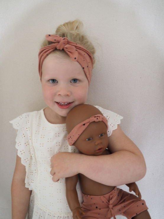 Huusje kids | haarbandje | terracotta dot