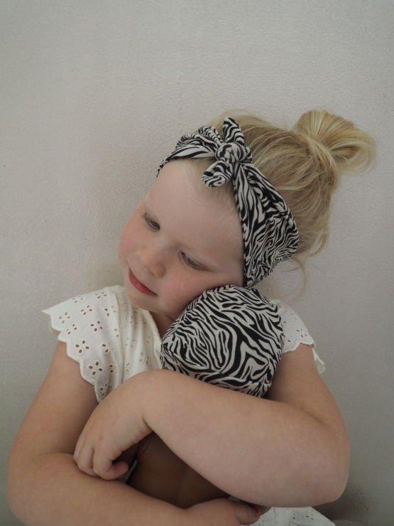 Huusje kids | haarbandje | zebra