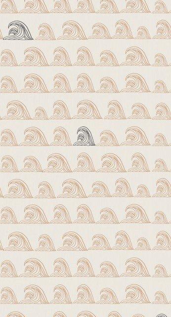 Bibelotte | Behang Zeebries - stone/antraciet