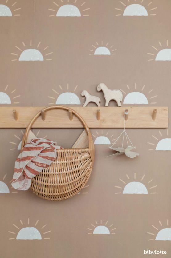 Behang | Ochtendgloren mosterd