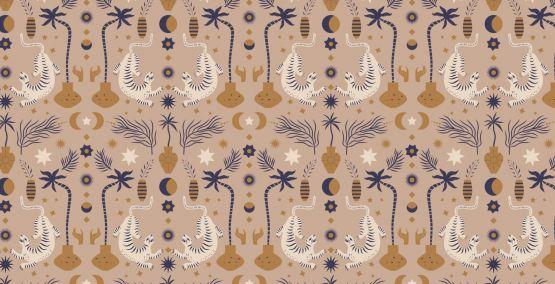May & Fay | Behang Oriental Dream Brown