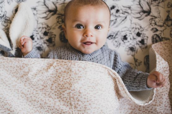 Mies & Co | Ledikantdeken soft teddy Wild Child chalk pink