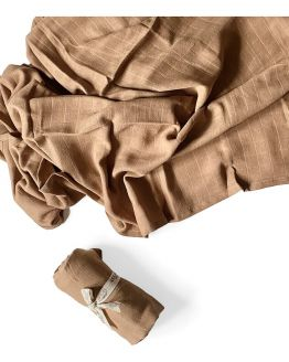 PLAY AT SLAEP | organic XL Cloth / swaddle - camel