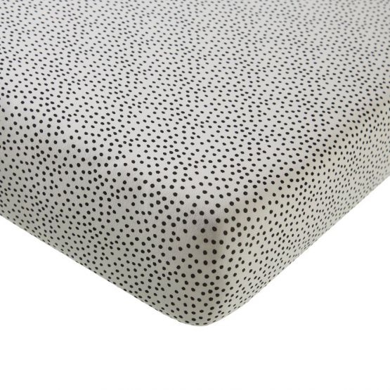 Mies & Co | Wieg hoeslaken Cozy Dots offwhite