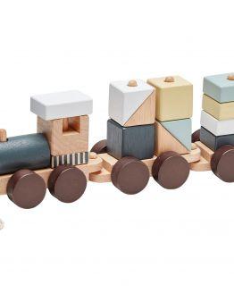 Kids Concept | Houten trein met blokken - naturel