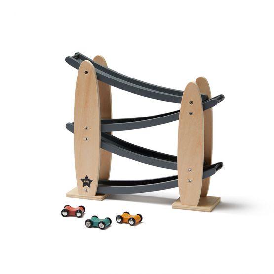 Kids Concept | Racebaan naturel/ grijs Aiden