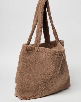 Studio Noos | Mom bag - Brown chunky teddy