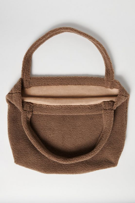 Studio Noos | Mom bag - Brown chunky teddy