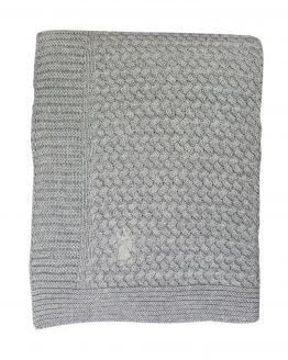 Mies & Co | Ledikantdeken gebreid - soft grey