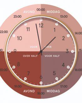 Dutch Sprinkles | Hippe leerklok – dusty pink