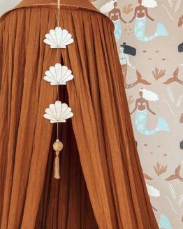 Cotton Design   Seashell hanger