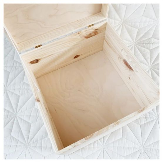 Mommies and Miracles | Houten memory box vierkant