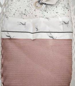 Mies & Co | Ledikantdeken gebreid - pale pink