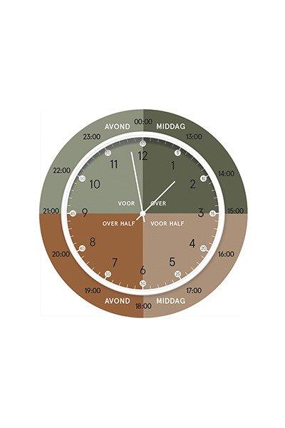 Dutch Sprinkles   Hippe leerklok – green brown