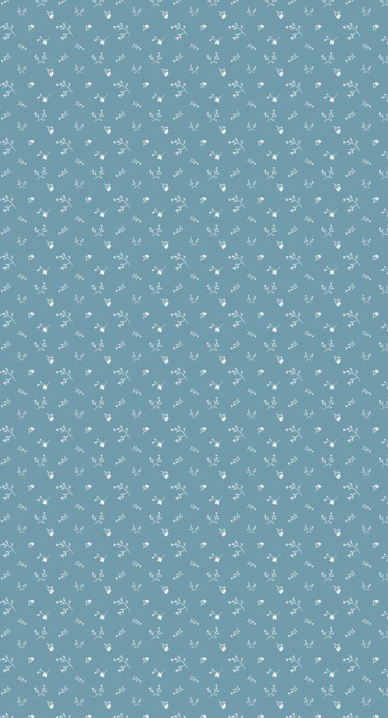 Bibelotte | Behang Bloemenzee klein | Blauw