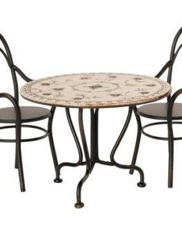 Maileg | Eettafel set met 2 stoeltjes