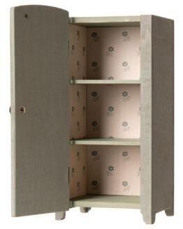 Maileg | Houten vintage kledingkast - Mint/Grijs